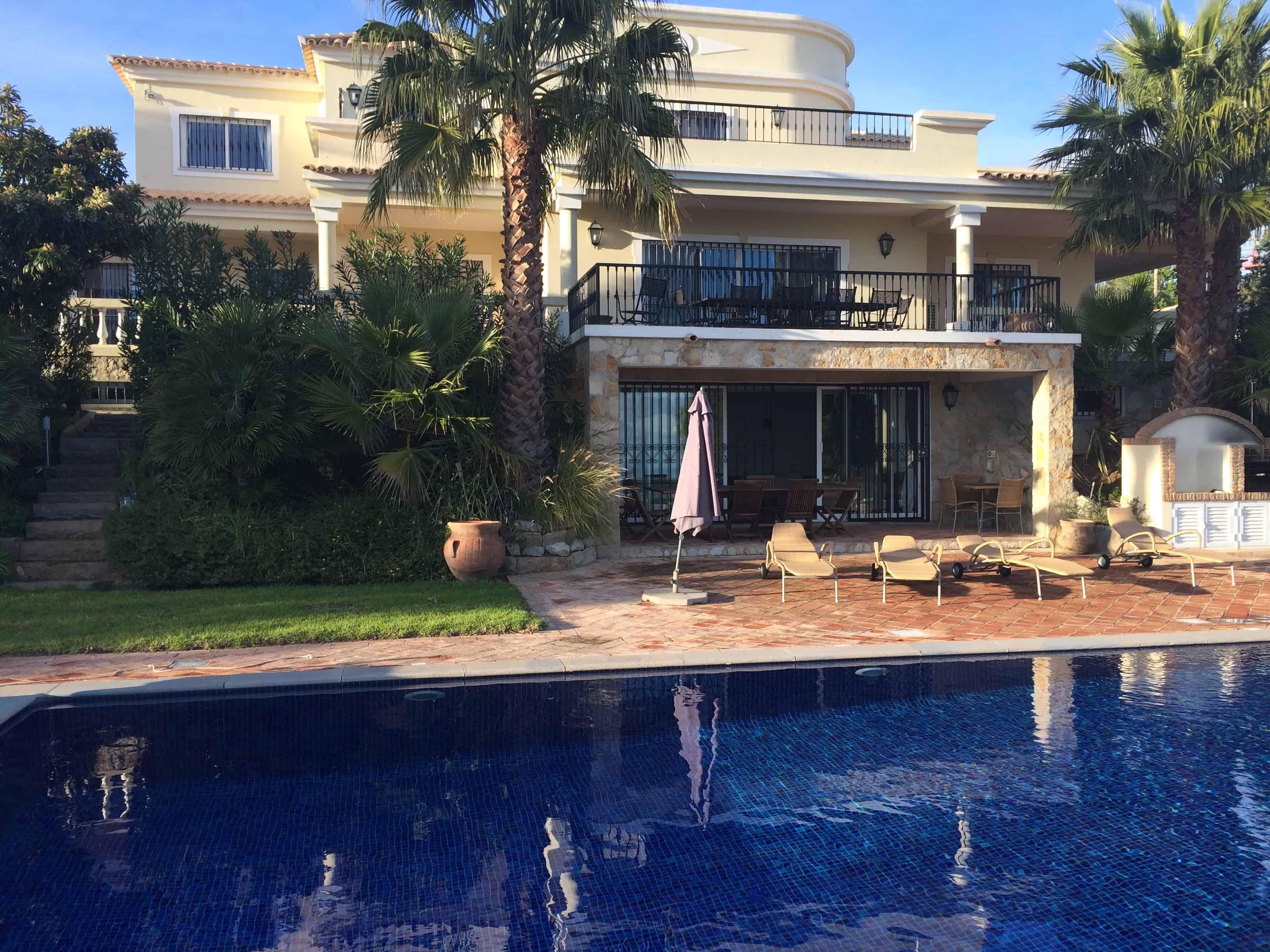 Loule algarve portugal outdoor solar swimming pool - Solar hot water heater for swimming pool ...