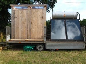 Dorset Campsite - Off Grid Solar Water Heating