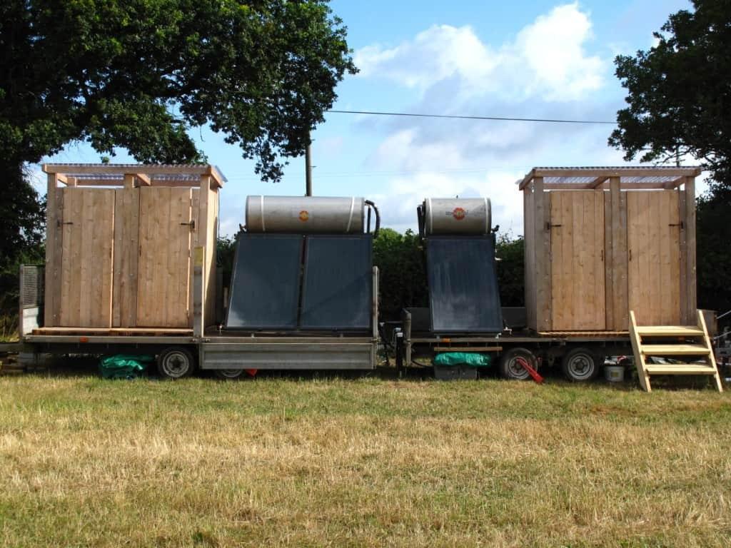 Dorset Campsite Off Grid Solar Water Heating