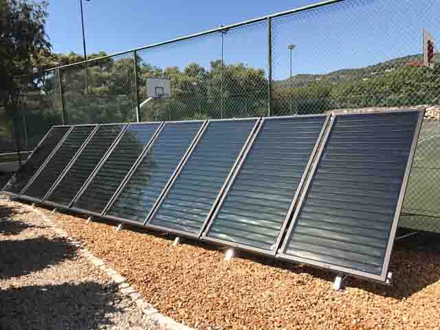 Algarve solar heated swimming pool for Swimming pool energy consumption