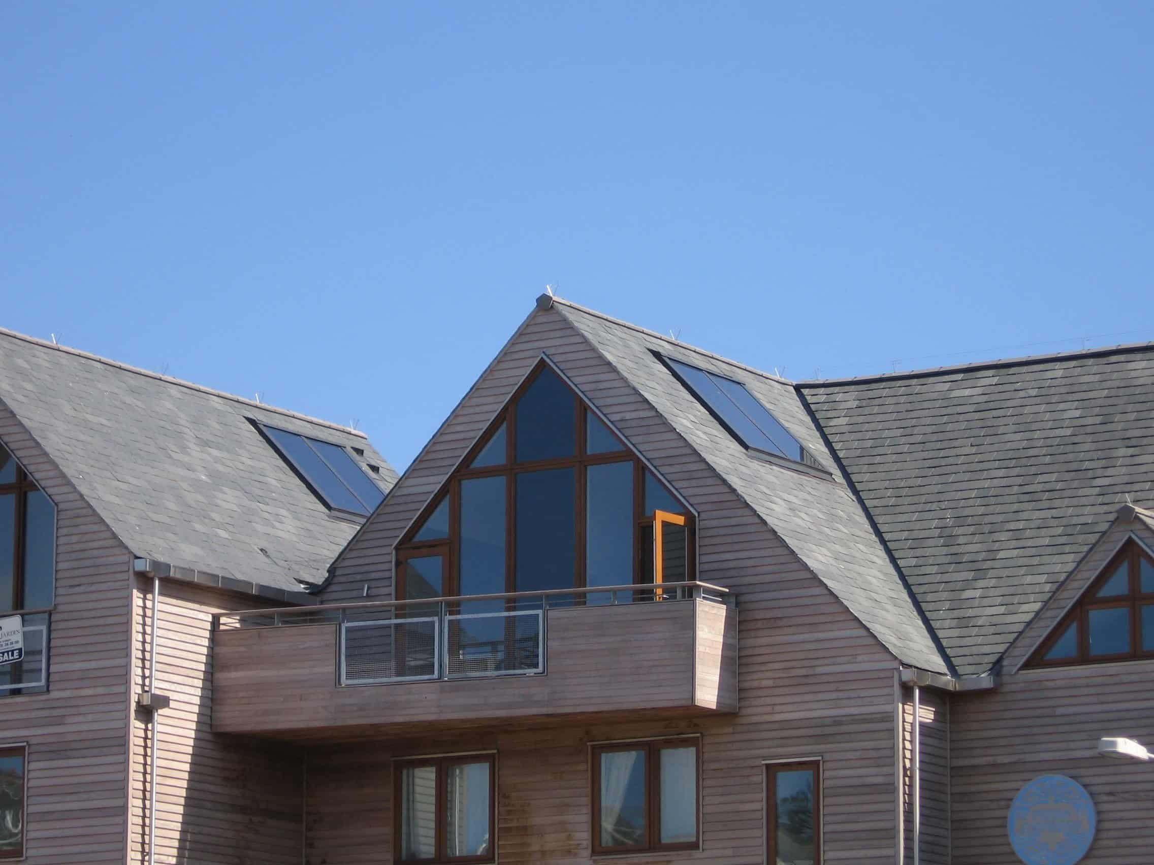 In Roof Slate Solar Water Heating Panels Falmouth Cornwall