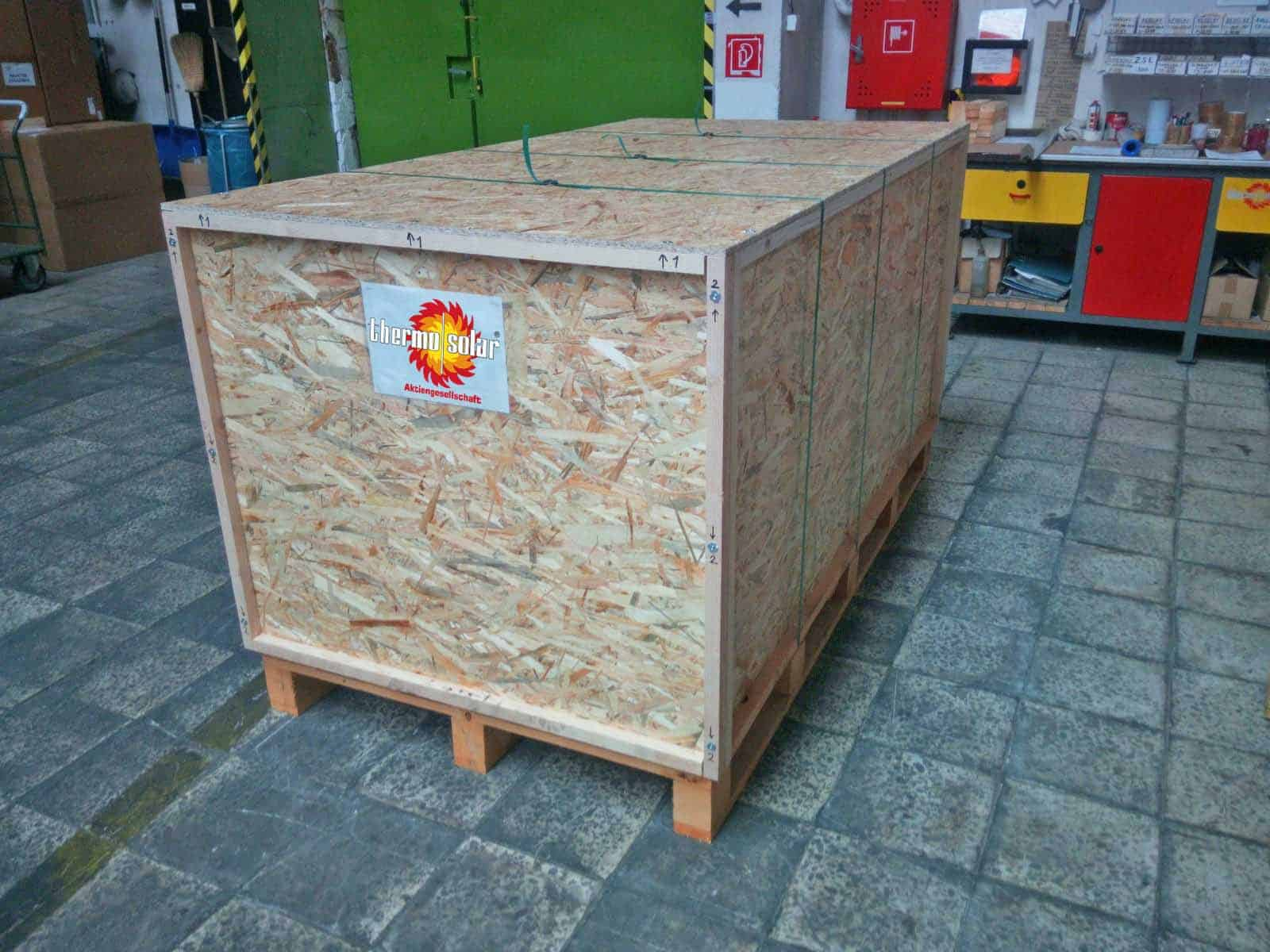 Solar Panel Protective Shipment Crate Hot Solar Water